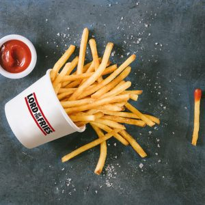 salted fries and sauce